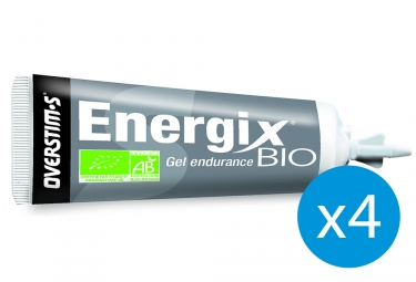 Bundle 3+1 Free OVERSTIMS Energy Gel ORGANIC ENERGIX Lemon