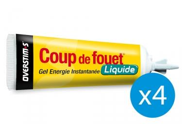 Pack 3+1 Offert Gel Énergétique Overstims Coup de Fouet Liquide Citron