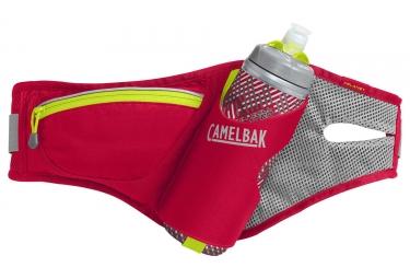 ceinture d hydratation camelbak delaney avec bidon podium chill 620 ml rouge vert