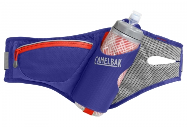 ceinture d hydratation camelbak delaney avec bidon podium chill 620 ml violet orange