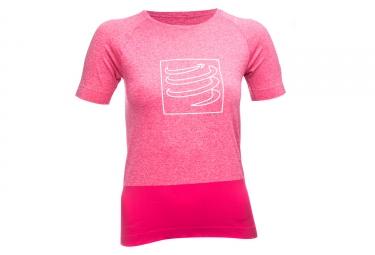 t shirt technique femme compressport training rose l