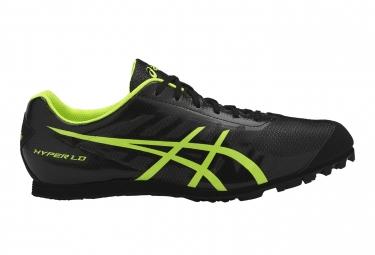 Chaussures d'Athlétisme Asics Hyper LD 5 Noir / Vert / Fluo