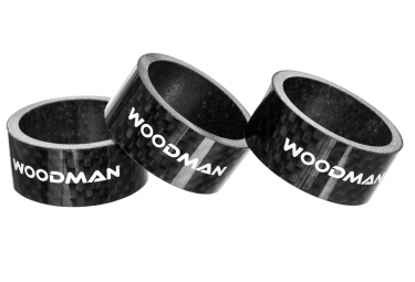 Entretoises de direction woodman carbone 15mm x3