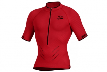 Maillot manche courte spiuk team biomechanic man rouge m
