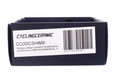 Chape de Dérailleur CyclingCeramic Shimano Ultegra/Dura Ace 10/11V Noir