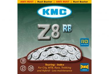 Chaine kmc z8s 1 2 x 3 32 116 maillons argent marron