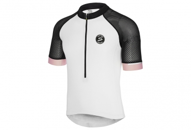 SPIUK Race Short Sleeve Top White/Black/Pink