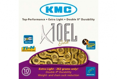 Chaine kmc x10el 114 maillons or