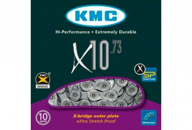 KMC X10-73 Chain 114 Links Grey
