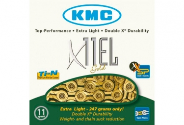Chaine kmc x11el 114 maillons or