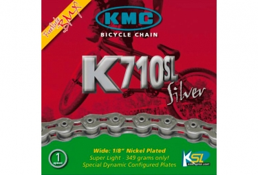 Chaine kmc k710 sl 1 2 x 1 8 100 maillons argent