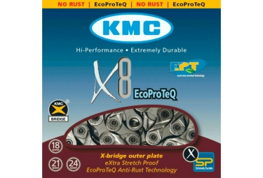KMC X8 EPT Chain 116 Links Grey