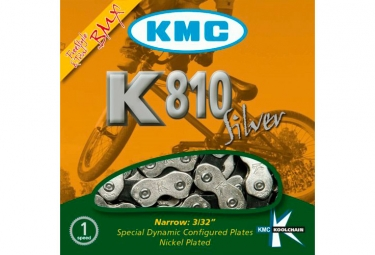 KMC X810 Chain 1/2'' x 3/32'' 100 Links Silver