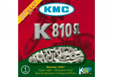 Chaine kmc k810sl 100 maillons argent