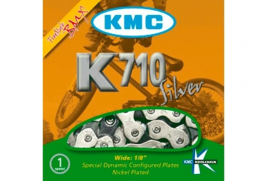 KMC X710 Chain 1/2'' x 1/8'' 100 Links Silver