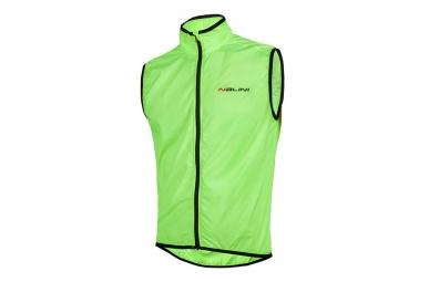 veste sans manches coupe vent nalini arietta vert fluo m