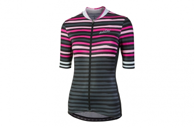 Maillot manches courtes femme nalini moderna rose gris s