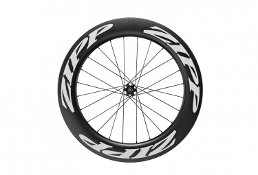 Roue avant zipp 808 carbon tubeless disc 9 12 15x100mm stickers blanc