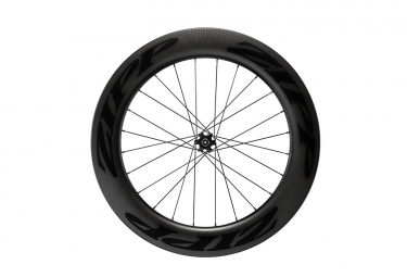 roue avant zipp 808 carbon tubeless disc 9 12 15x100mm stickers noir