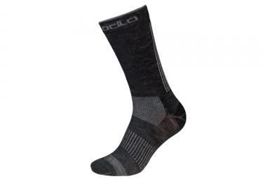 Paire de chaussettes basses odlo natural ceramiwool outdoor gris noir 39 41