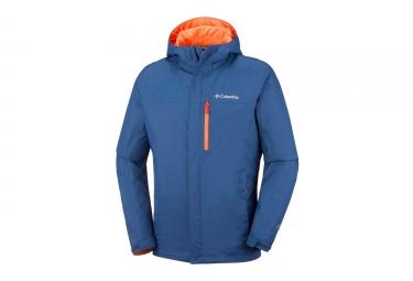 Veste impermeable columbia pouring adventure ii bleu orange s