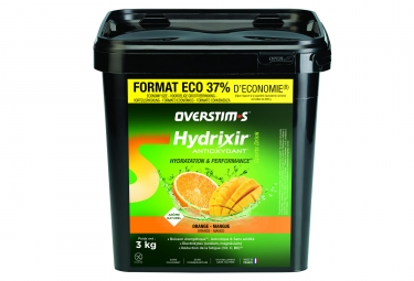 boisson energetique overstims hydrixir antioxydant orange mangue 3kg