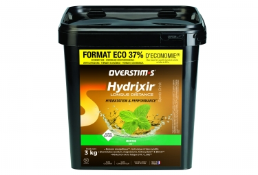 OVERSTIMS Hydrixir Longue Distance Energy Drink Mint 3kg