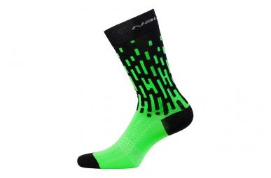 Paire de chaussettes nalini fulmine noir vert 38 40