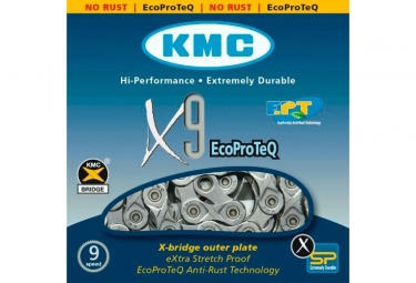 KMC X9 EPT Chain 116 Links Silver