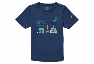 Camiseta Cotton Enfant ASICS Bleu Fonc