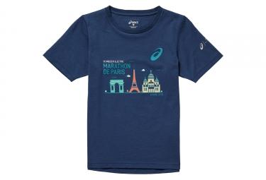 T-shirt Cotton Enfant ASICS Bleu Foncé