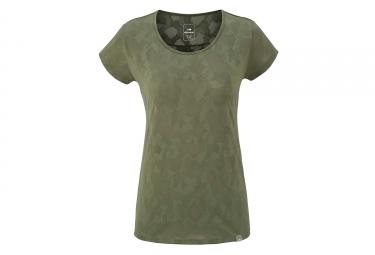 T-Shirt Femme Eider Flex Jacquard Dark Kaki