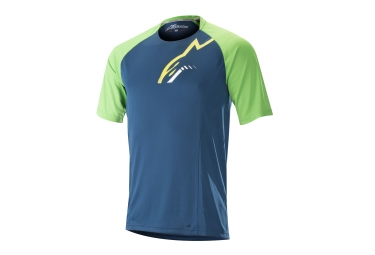 Maillot manches courtes alpinestars trailstar bleu vert s