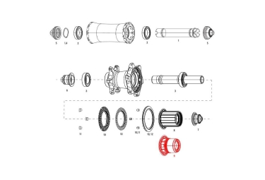 Corps de roue libre zipp xd pour moyeu cognition nsw