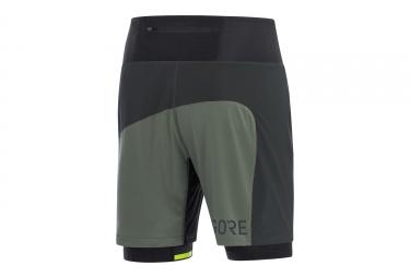 Short 2-en-1 Gore Wear R7 Noir Gris