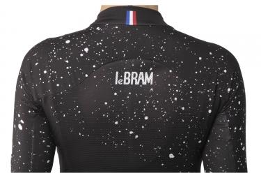 Maillot Manches Courtes Femme LeBram Glandon Noir Coupe Pro