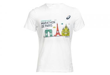 Camiseta ASICS Schneider Marathon de Paris 2018 blanca