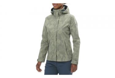 Eider Squamish Print Jacket Women Khaki Mist Camo