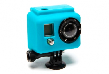 XSORIES Etui de Protection Silicon BLEU pour Camera GOPRO HD Hero et Hero2