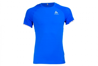 Odlo Zeroweight Ceramicool Short Sleeves Jersey Blue