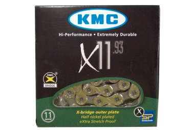 Chaine x11 93 kmc 114 maillons 11v argent