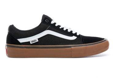Chaussures Vans Old Skool Pro Noires Blanches Gum