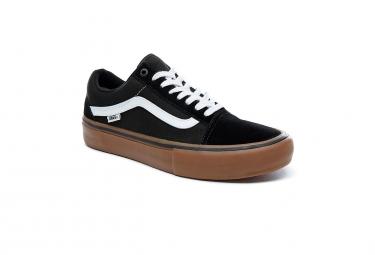 Chaussures Vans Old Skool Pro Noires Blanches Gum