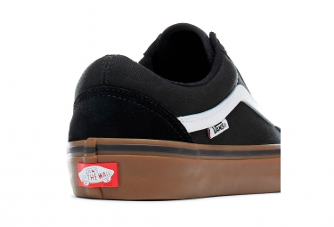 Vans Old Skool Pro Shoes Black White Gum