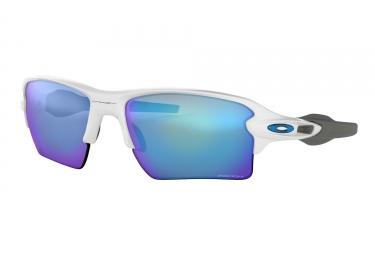 lunettes oakley flak 2 0 xl blanc prizm sapphir oo9188 9459