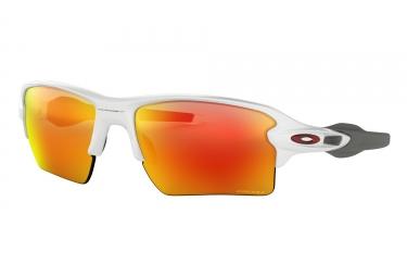 lunettes oakley flak 2 0 xl blanc prizm ruby oo9188 9359
