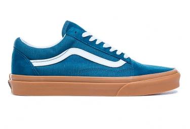 Chaussures vans old skool bleues reflechissantes 45