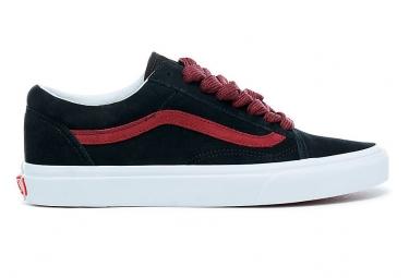 Chaussures vans old skool noires rouges 42