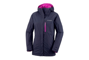 Columbia Pouring Adventure Mujeres chaqueta impermeable azul rosa