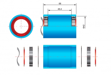 Kit roulements BB30 Ceramic (K-Force Light Route)